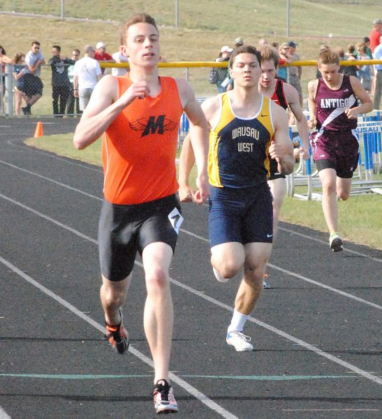 Marshfield senior Calden Wojt competes in the 100-meter dash at the WIAA Division 1 track regional at Wausau West on May 23. Wojt will run in the 100, 200, and 400 meters at the WIAA State Track & Field Championships at the University of Wisconsin-La Crosse on Friday and Saturday.