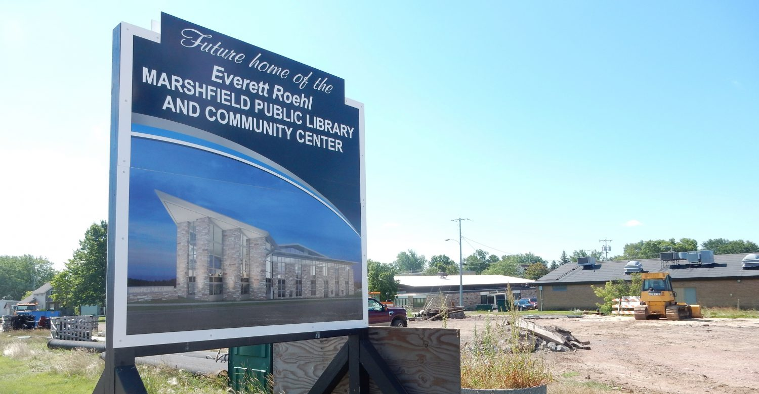 Everett Roehl Marshfield Public Library and Community Center groundbreaking capital campaign