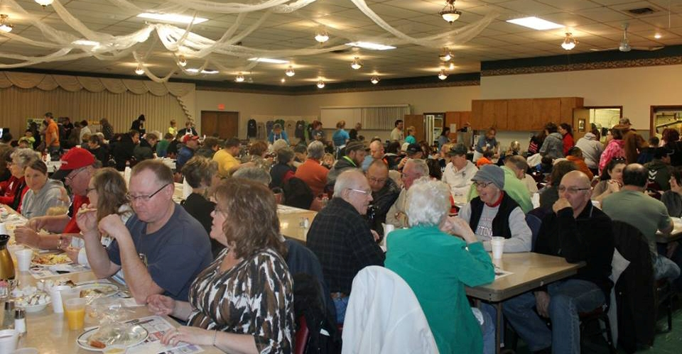 Marshfield's Knights of Columbus Hall was packed for MAPS' annual Paws & Pancakes fundraising breakfast on Feb. 28.