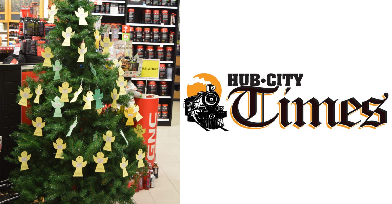 The Marshfield Mall angel tree is located inside the GNC store.