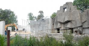 Altmann Construction Company Inc. recently received a Silver Projects of Distinction Award for its work on the J.P. Adler Family Kodiak Bear Exhibit at Wildwood Park & Zoo. This 2015 file photo shows the exhibit under construction.