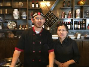 Louis Gao and Summer Liu, owners of Nagoya Japanese Sushi & Steak House, hope to establish themselves in Marshfield before reuniting their family.
