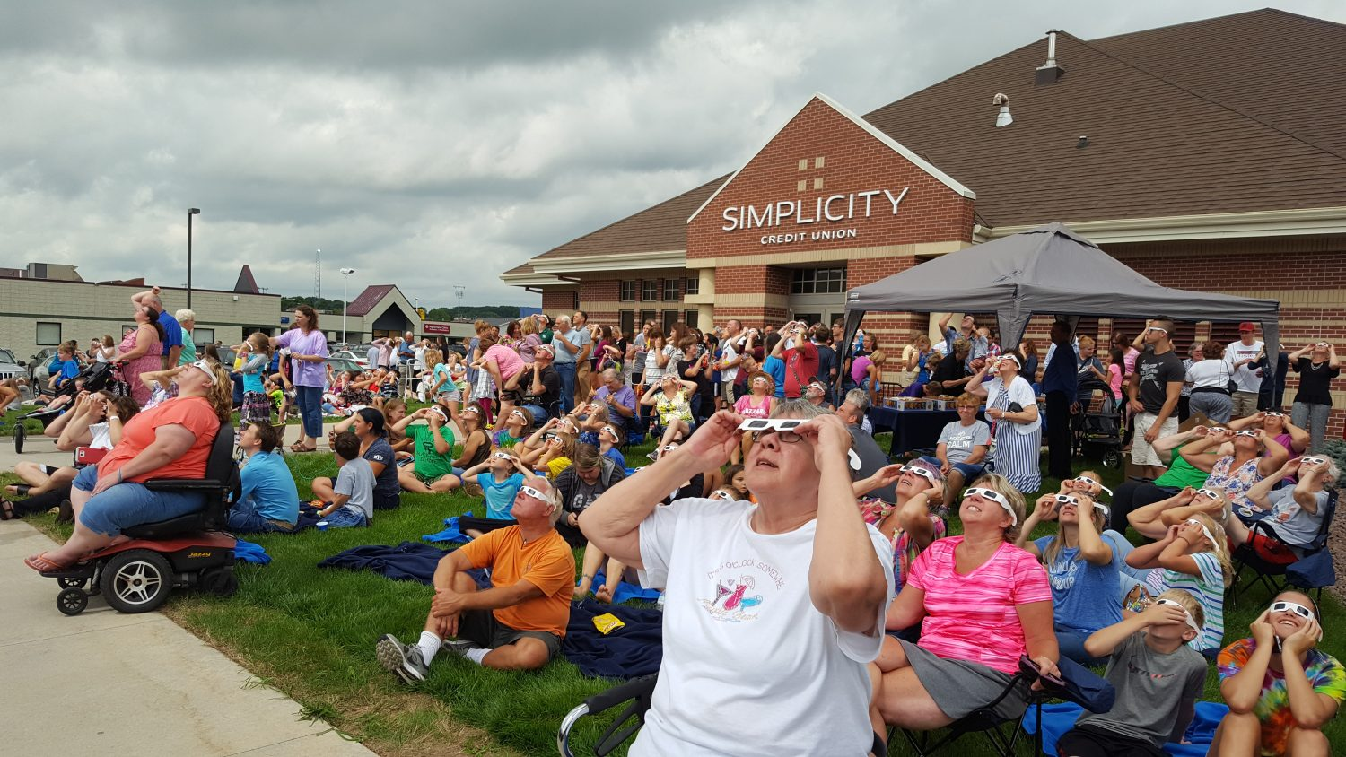 Simplicity Credit Union held an eclipse viewing party on Aug. 21.